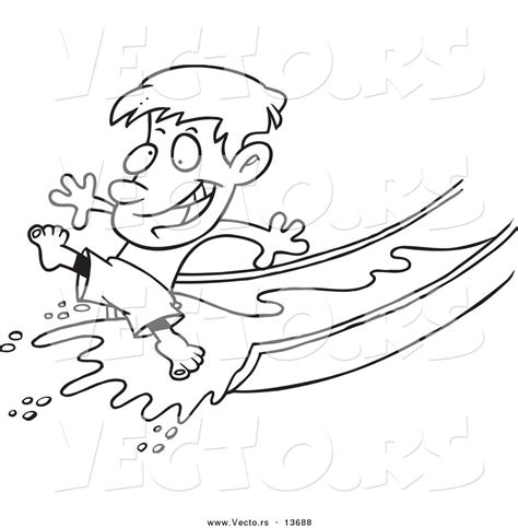 coloring pages of water slides water slides in water parks clipart 16
