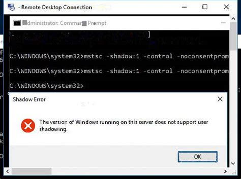 mstsc admin console bug server 2016 standard w desktop admin rdp session