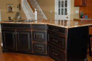 Distressed Kitchen Cabinets I The Look Of Distressed Black Kitchen Cabinets Thinking Of My Own Like This