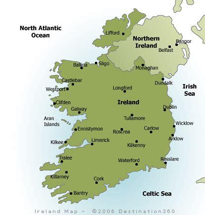 map of ireland with major cities ireland map
