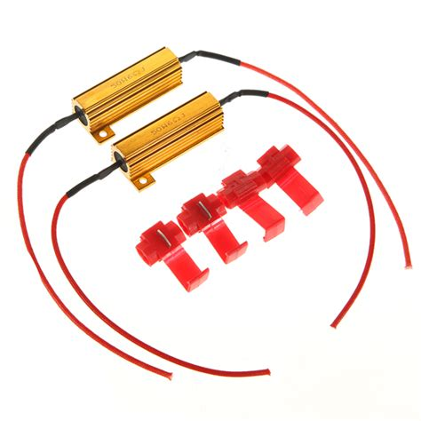what resistor for led lights flash rate load resistors led turn lights controllers alex nld