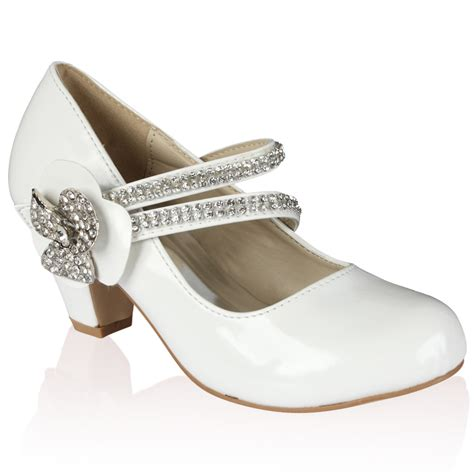 Wedding Shoes Size 10 by New Patent Diamante Low Heel