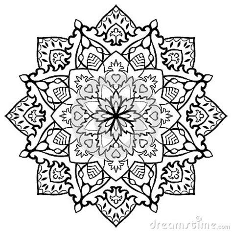 Orientalische Muster Vorlagen Kostenlos Orientalische Mit Filigran Geschm 252 Ckte Mandala Vektor Abbildung Bild 65345497