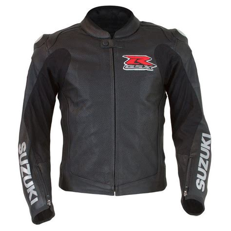 Suzuki Jacket Suzuki Gsx R Perforated Leather Motorcycle Jacket Black