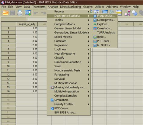 spss tutorial how to enter data statistics tutor how to draw a histogram using spss spss