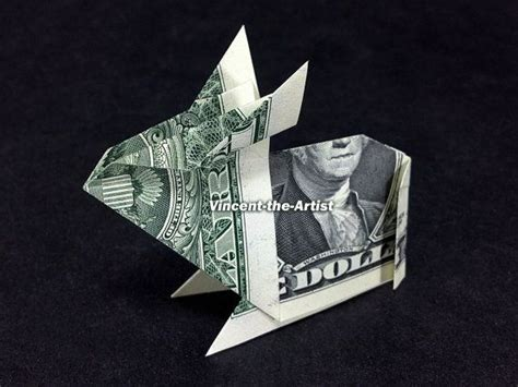 Dollar Bill Origami Rabbit - rabbit dollar origami money dollar origami