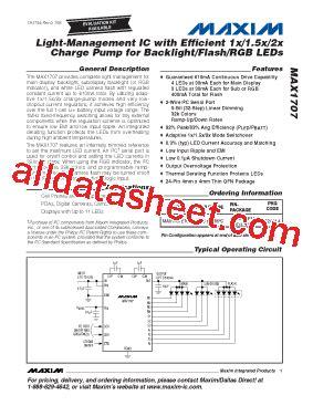 maxim integrated products leadership max1707 datasheet pdf maxim integrated products