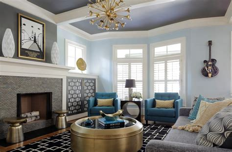 light blue and gold living room blue and gold scheme living room style with white wall oval decorative plates