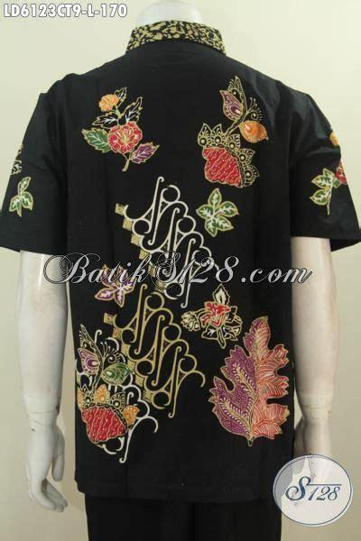 desain batik hitam baju batik hitam elegan dengan motif keren desain mewah