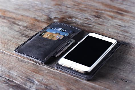 Handmade Leather Iphone Wallet - handmade leather iphone wallet distressed