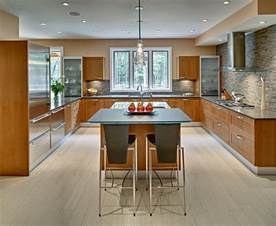 U Shaped Kitchen Design With Island U Shaped Kitchen Layout With Island And Recessed Lighting