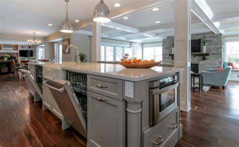 gray kitchen island with built in dishwasher home