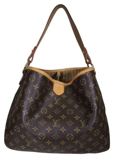 louis vuitton brown canvas delightful hobo bag tradesy