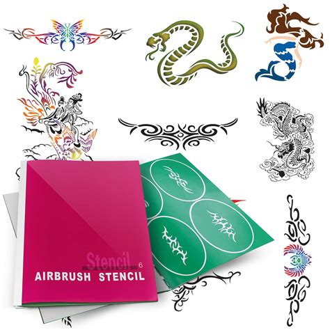 temporary tattoo stencils temporary airbrush design stencil patterns ebay
