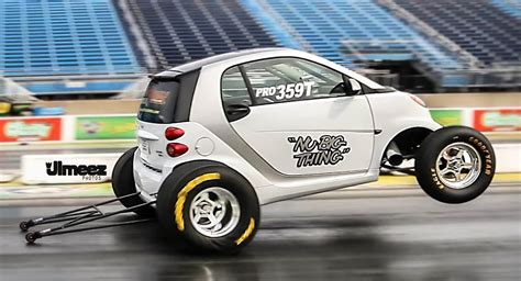 slammed smart car record set s fastest smart car runs 10 26 130