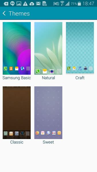 themes store galaxy a5 touchwiz themes will be coming with the galaxy a3 and a5