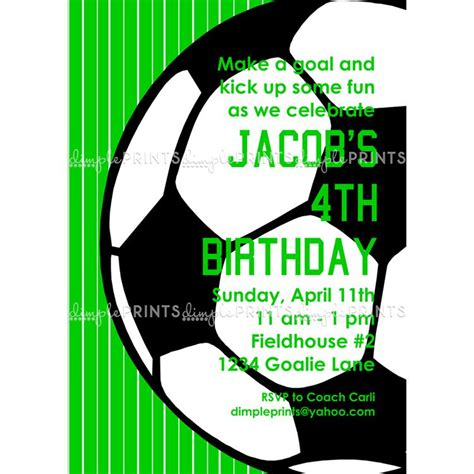 printable soccer invitation templates soccer printable invitation dimple prints shop