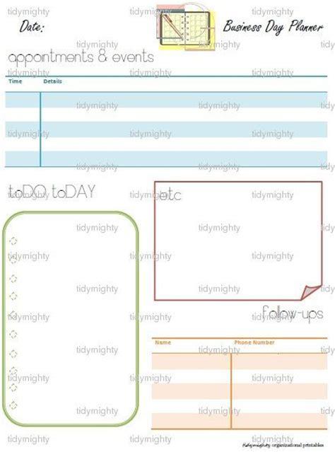 printable planner organizer business day planner organizer printable pdf instant