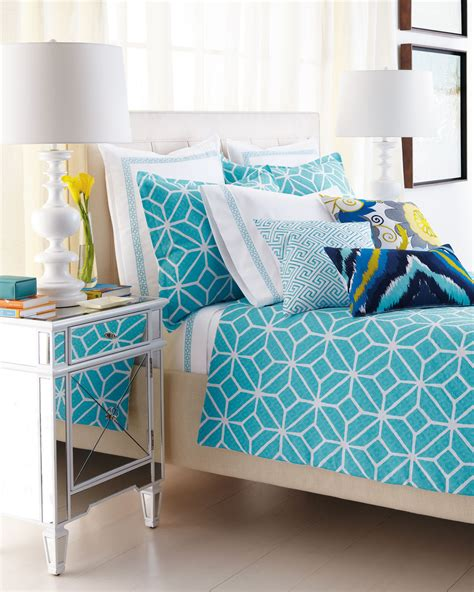 aqua and white bedding how to enrich interior with royal turquoise velvet fabric homesfeed