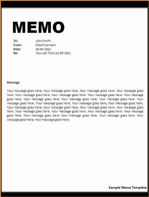 memo template how to write memorandum letter best template design images