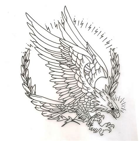 eagle traditional circle tattoo inspiration