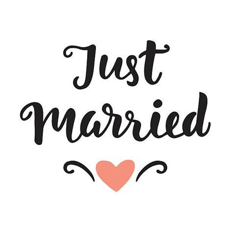 Wedding Clipart Just Married by Just Married Vektorgrafiken Und Illustrationen Istock
