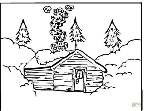 log cabin coloring page free printable coloring pages