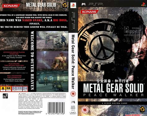 Po Import Console Psp Metal Gear Solid Peace Walker Premium metal gear solid peace walker usa iso