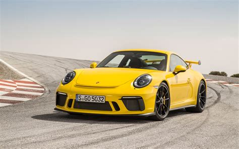 porsche yellow 2018 porsche 911 gt3 racing yellow wallpapers hd