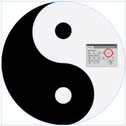 Voila now you have quick and easy way to draw a yin yang
