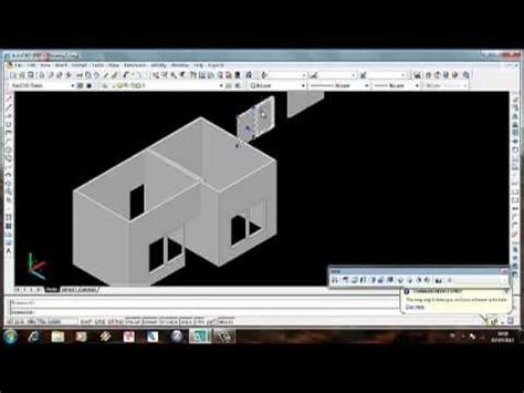 tutorial autocad 2007 youtube indonesia video tutorial membuat rumah sederhana 3 dimensi dengan