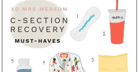 C Section Recovery Time by Xo Mrs Measom C Section Recovery Must Haves