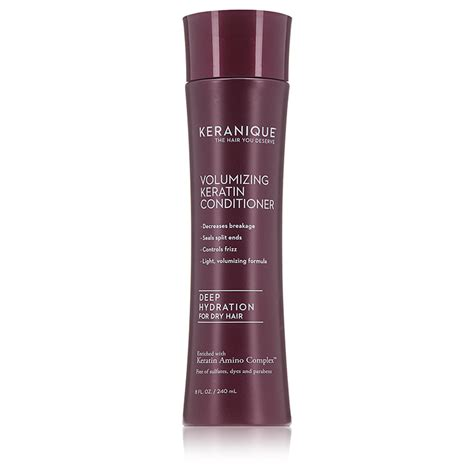 hydration hair products keranique hydration volumizing keratin conditioner