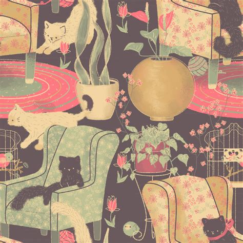 cat background pattern tumblr cat lady pattern by pronouncedyou on deviantart