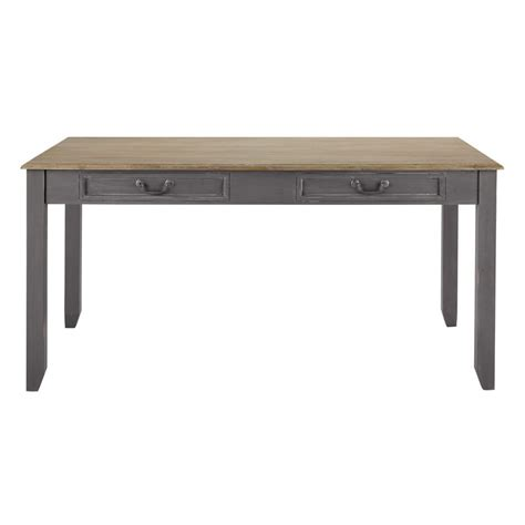 Extending Wooden Dining Table Wooden Extending Dining Table In Grey W 160cm Honorine Maisons Du Monde