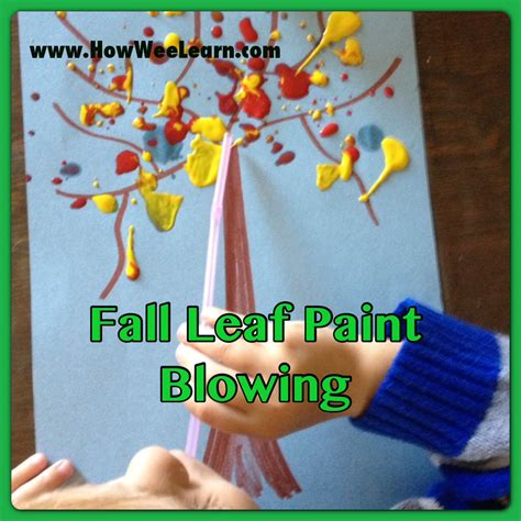 toddler craft crafts for paint blowing how wee learn