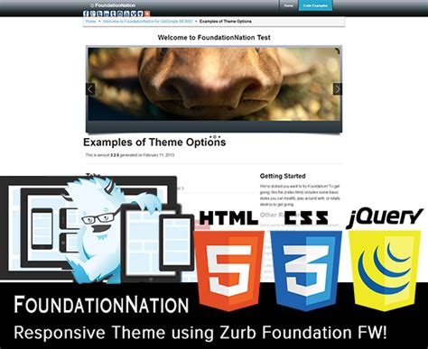 theme foundation theme foundationnation responsive theme getsimple extend