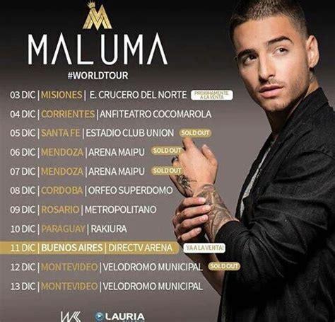 maluma concierto diciembre 2016 argentina maluma en la argentina conciertos fechas 2016 maluma en