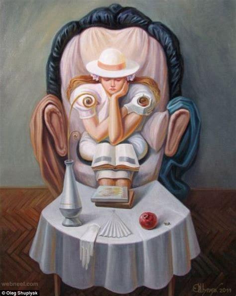 ilusiones opticas salvador dali oleg shuplyak illusion painting salvador dali 9