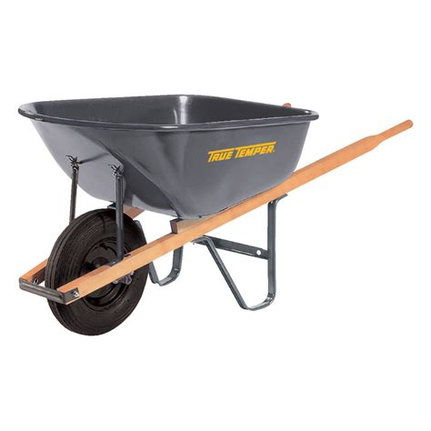 shop true temper 6 cu ft steel wheelbarrow at lowes