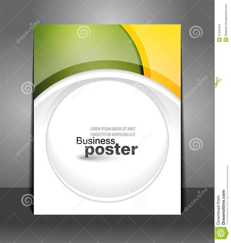 design poster template stylish presentation of business poster stock vector