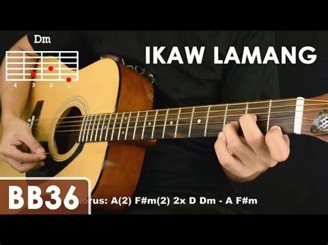 tutorial guitar ikaw in cola chorded videolike
