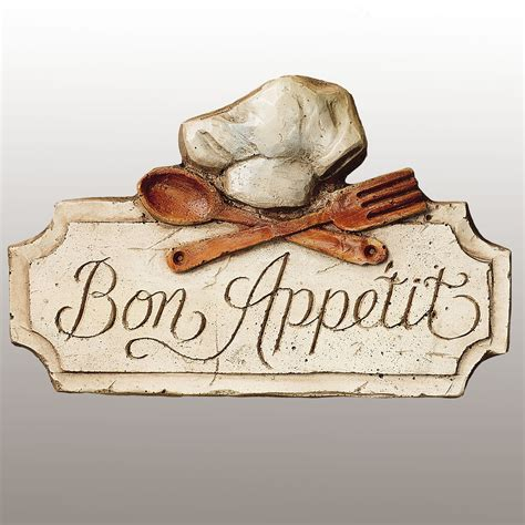 Kitchen Wall Plaques by Bon Appetit Kitchen Wall Plaque