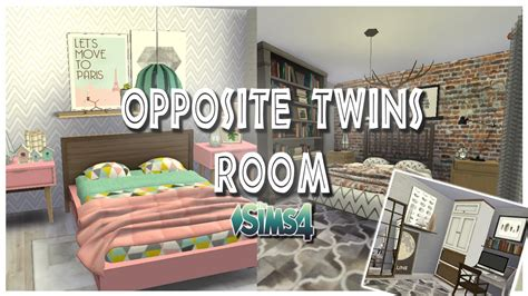 sims bedroom sims 4 opposite twins bedroom
