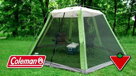 coleman screen house with awnings coleman instant screen house from canadian tire youtube