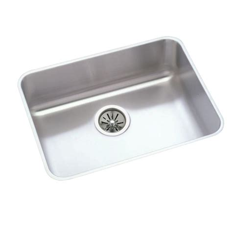 stainless steel single bowl kitchen sink elkay lustertone top mount stainless steel 33x22x10 1 8 in
