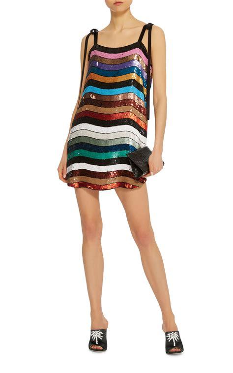 Dress Sabrina Stripe Da sabrina mini allover paillette dress by attico moda operandi