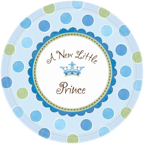 Paper Plates For Baby Shower by Prince Baby Shower Paper Plates From All You Need