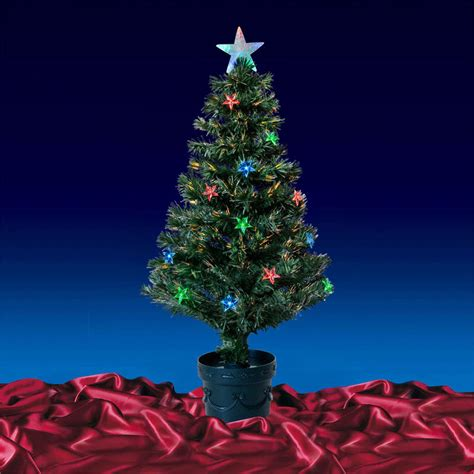 3ft 90cm beautiful green fibre optic christmas tree with