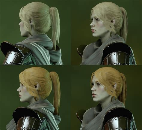 inquisition new hairstyles long ponytail hair for female humans elves and dwarves at